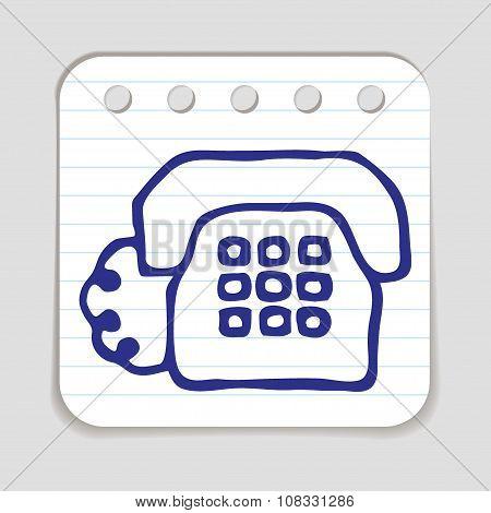 Doodle Telephone icon.