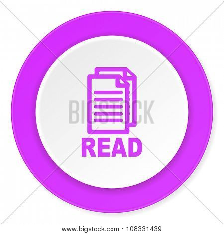 read violet pink circle 3d modern flat design icon on white background