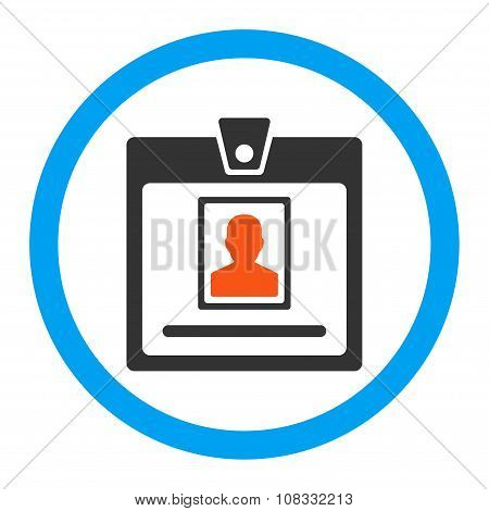 Person Badge Rounded Glyph Icon