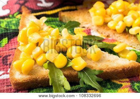 Tapas With Sweet Corn