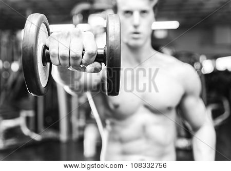 Black And White Concept About Gym