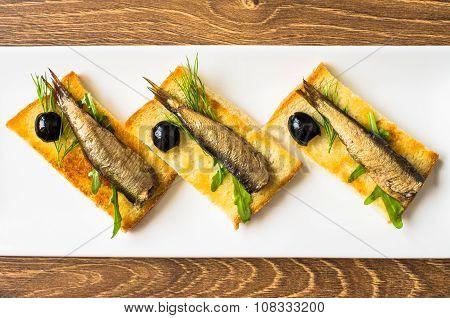 Smoked Sardines On Toast