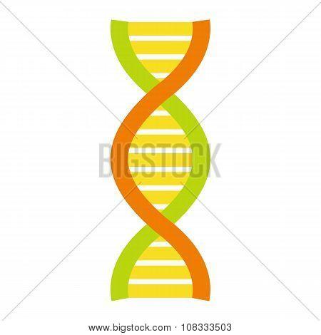 Flat DNA and molecule symbol
