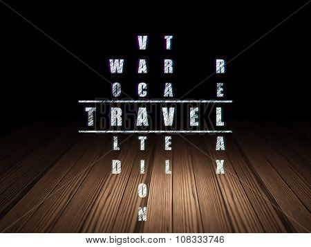 Travel concept: Travel in Crossword Puzzle