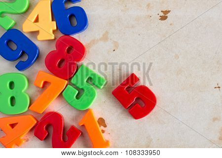 Border Of Colorful Toy Numbers