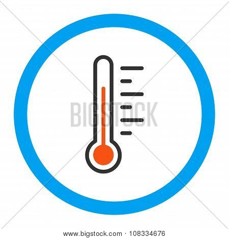 Temperature Level Rounded Glyph Icon