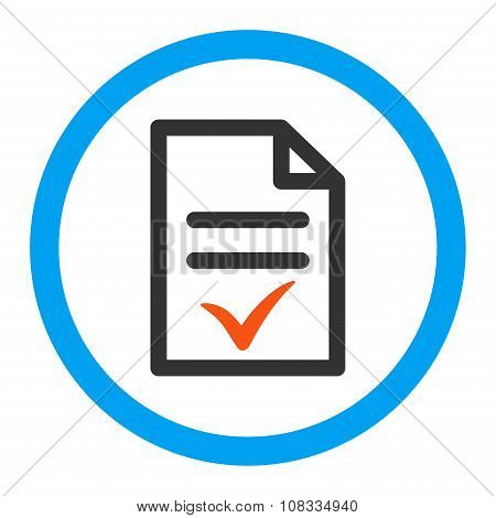 Valid Document Rounded Glyph Icon
