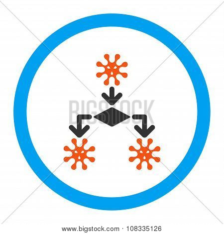 Virus Reproduction Rounded Glyph Icon