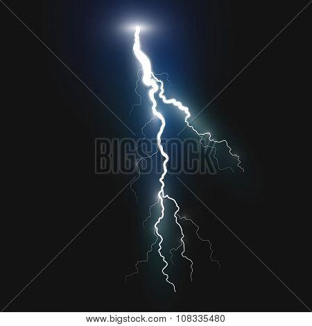 New realistic lightning symbol