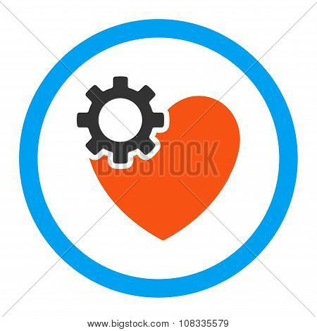 Heart Surgery Rounded Glyph Icon