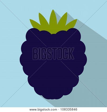 Blackberry flat icon