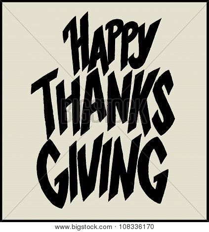 Give Thanks Hand Drawn Lettering.eps