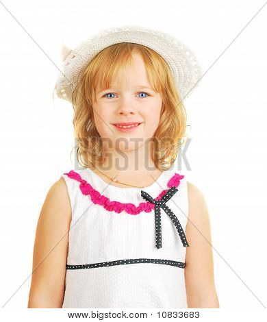 Little Girl Portrait  Isolated