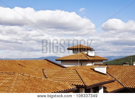 Roof over Bansko in Bulgaria