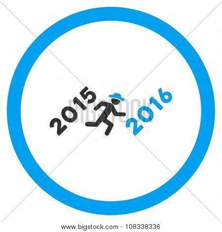 Run To 2016 Year Icon