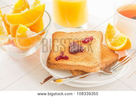I love yuo with jam on toast