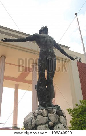 University of the Philippines Oblation Statue in Quezon City, Philippines