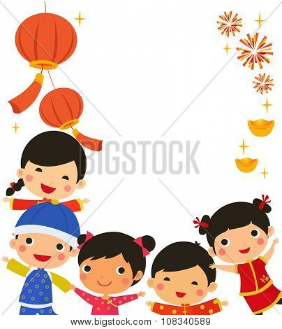 Group of Chinese children