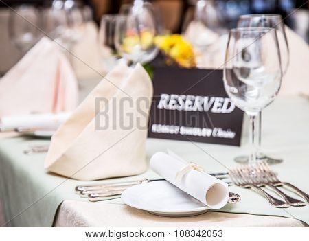 Festival dinner setting and