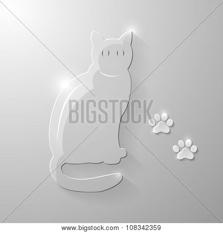 Glass Cat And Paws