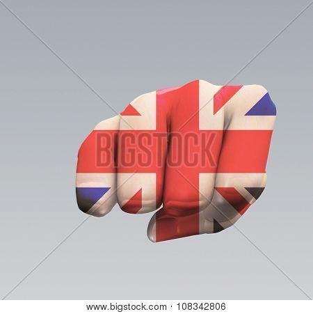 UK Flag Fist Punch