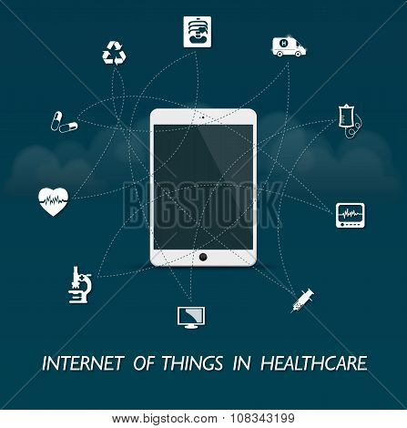 The internet of everything in healthcare - tablet control design
