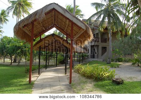 Dos Palmas Island Resort Cottages Pathway in Palawan, Philippines