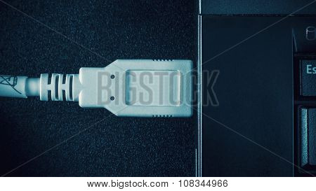 Usb Plug And Laptop