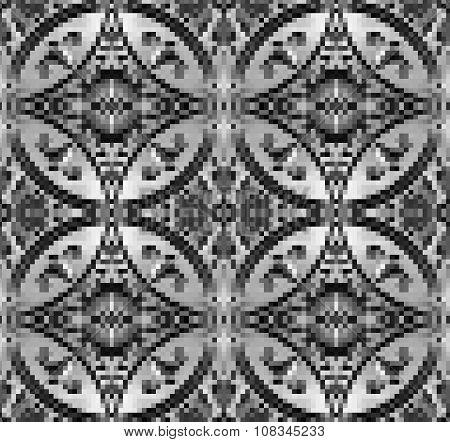 Black, white and grey pixelated Background