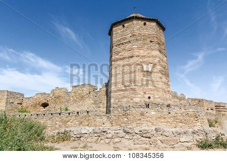 Tower Of An Ancient Fortress. Belgorod-dniester, Ukraine
