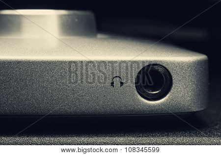 Headphone Plug In On Audio Equipment