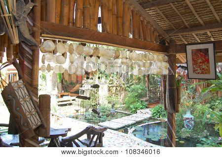 Lotus Garden Dining Interior and Exterior in Palawan, Philippines