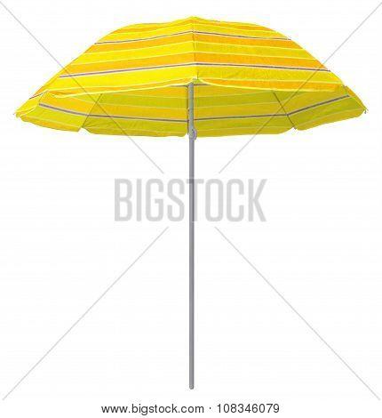 Beach Striped Umbrella - Yellow