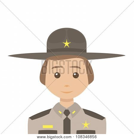 Sheriff With Blonde Hair