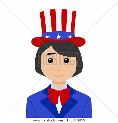 Uncle Sam With Black Hair