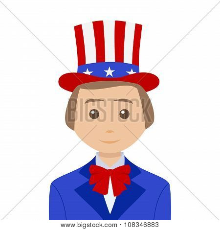 Uncle Sam With Blonde Hair
