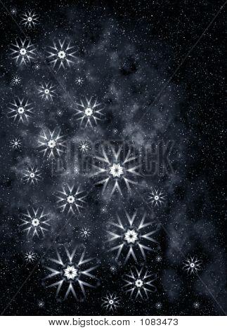 Raum Schneeflocken