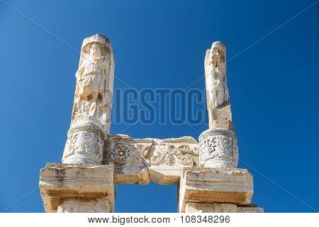 Temple Of Domitian In Ephesus Ancient City