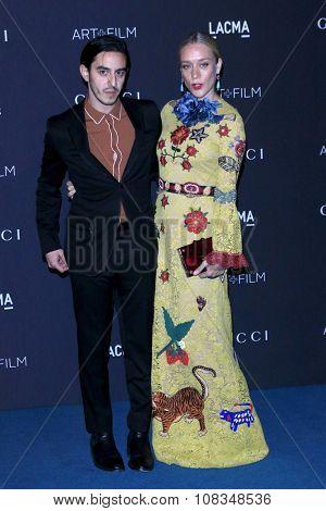 LOS ANGELES - NOV 7:  Ricky Salz, Chloe Sevigny at the LACMA Art + Film Gala at the  LACMA on November 7, 2015 in Los Angeles, CA
