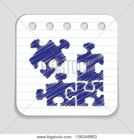 Doodle Puzzle icon.