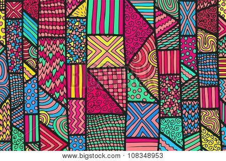 Zentangle Lines Color Background 10