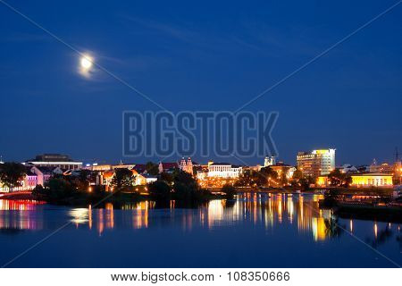 Center of Minsk at the evening