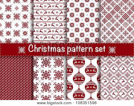 Seamless christmas patterns