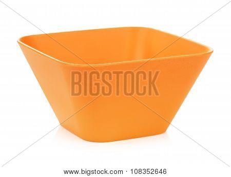 Orange Bamboo Bowl