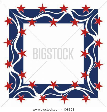Patriotic Frame - Square
