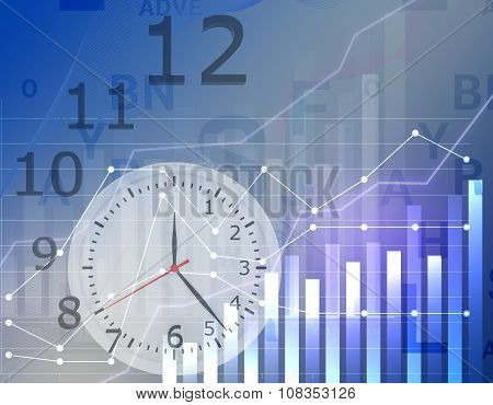 Business graph clock time