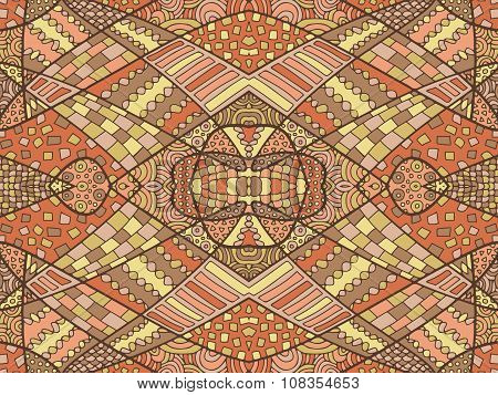 Zentangle Abstract Background Brown