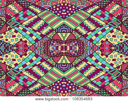 Zentangle Abstract Background Colorful 2