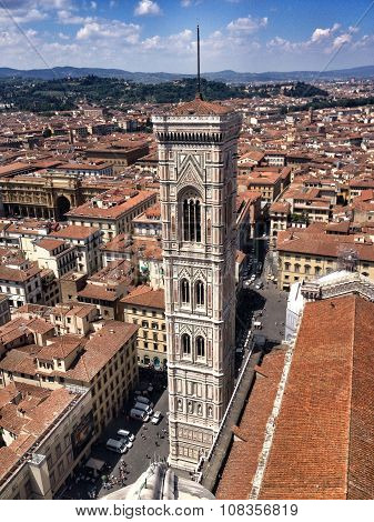 View of bell tower,Florence,Italy