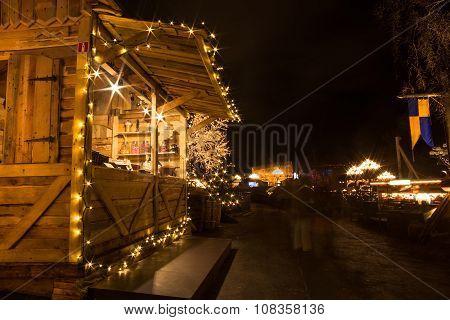 Christmas lights in Amusement Park Liseberg, Gothenbur, Sweden